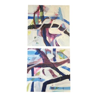 Abstract Diptych Painting