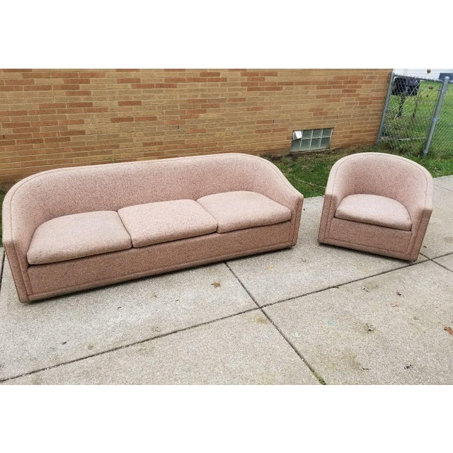 Larsen Furniture Jack Lenor Larsen Low Sofa and Swivel Lounge Chair - A Pair - Image 2 of 11