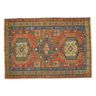 Antique Persian Heriz Rug - 2'9'' X 4'4''