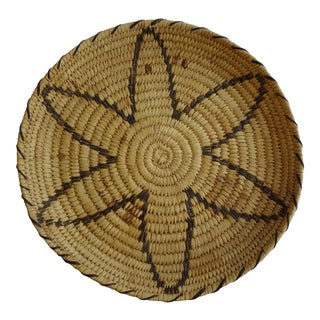 Vintage Native American Woven Coil Basket