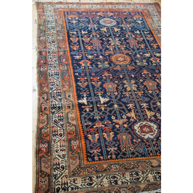 """Colorful Antique Malayer Rug - 4'2"""" X 6'6"""" - Image 6 of 10"""