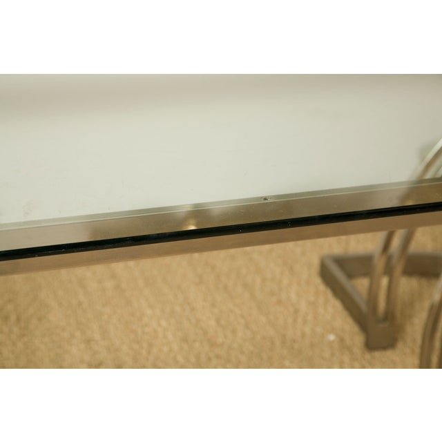 70's Art Deco Cantilevered Cocktail Coffee Table - Image 4 of 9