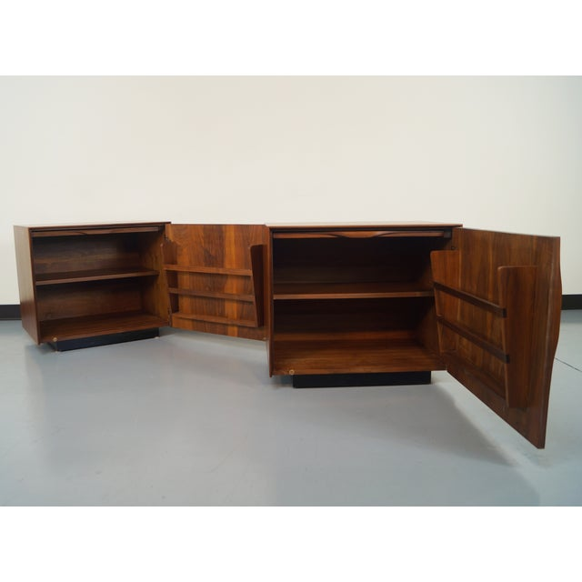 Image of John Kapel Mid-Century Walnut Nightstands - A Pair