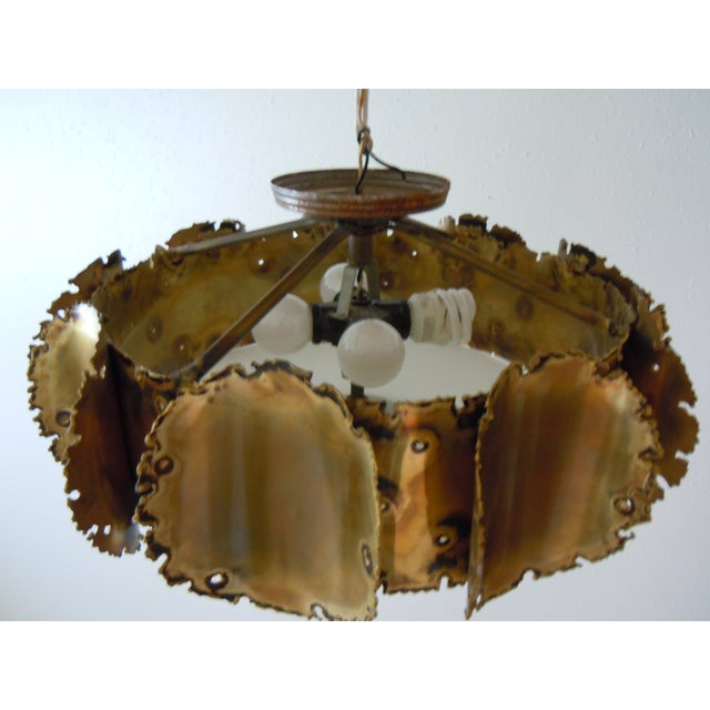 Tom Greene Brutalist Chandelier - Image 4 of 9