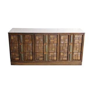 Mid-Century Brutalist Cubist 5 Drawer Dresser