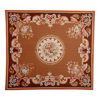 """Pasargad Aubusson Hand Woven Wool Rug - 5'10"""" X 6' 7"""""""