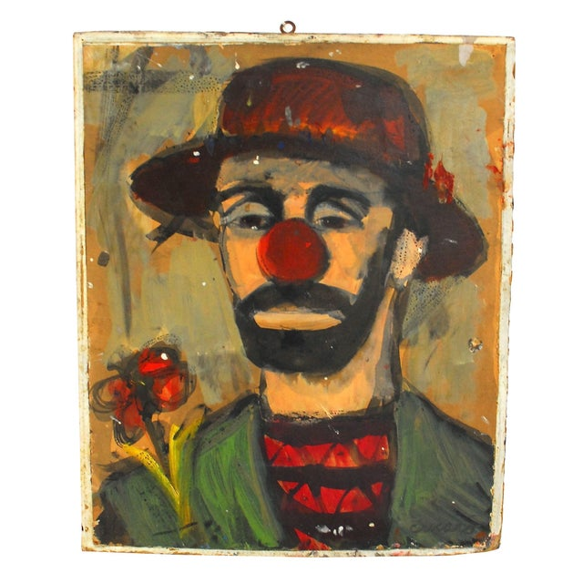 Image of Original Pascal Cucaro Clown Painting