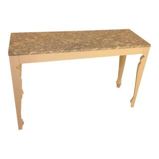 Arhaus Marble & Wood Sofa Table