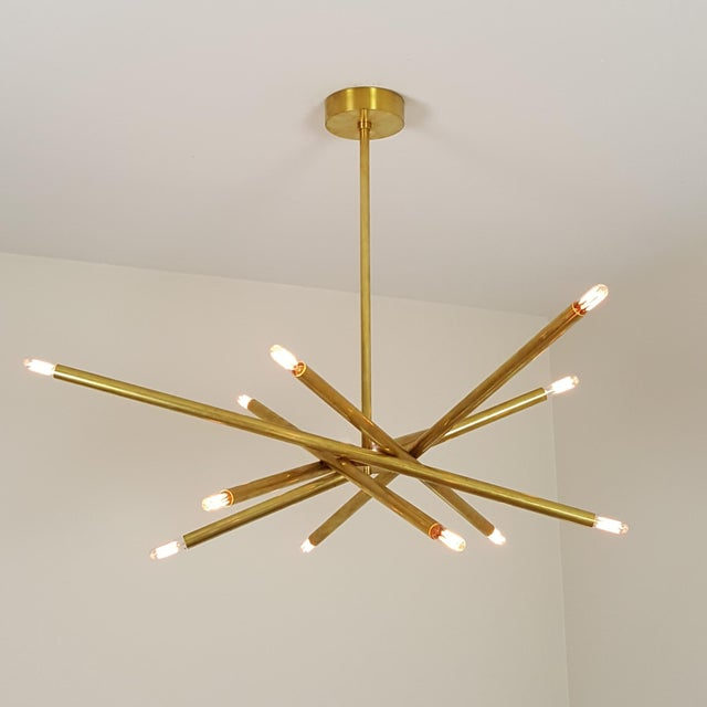 "Model 120 Sculptural Brass ""Nest"" Chandelier by Blueprint Lighting - Image 5 of 13"