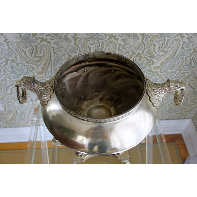 Silver Plated Jardiniere with Eagle Handles - Image 2 of 4