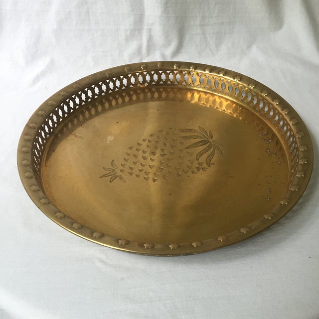 Brass Pineapple Tray - Image 5 of 6