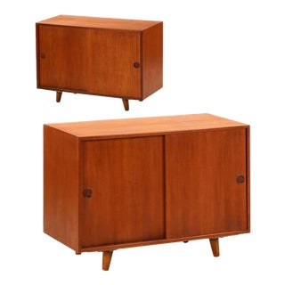 Peter Hvidt for Illums Bolighus Teak Cabinets Circa 1960 - A Pair