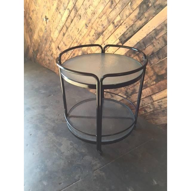 Rolling Outdoor Metal Glass Bar Cart - Image 4 of 6