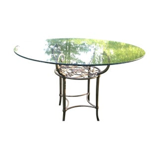 Circular Glass Top Patio Table