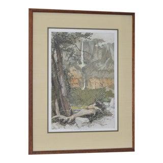 Yosemite Falls Etching by Luigi Kasimir