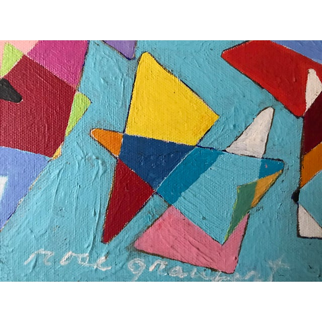 Vintage Geometric Abstract Painting #42 - Image 5 of 6