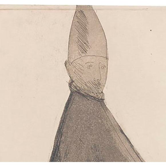 "Giacomo Manzu ""Cardinal Seduto"" - Image 3 of 3"