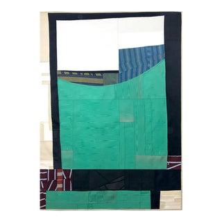 Rising Up, 2017 pieced vintage silk by Debra Smith