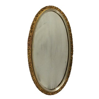 Oval Floral Giltwood Mirror