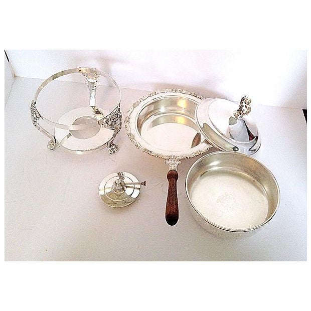 F.B. Rogers Silverplated Chaffing Dish Set - Image 3 of 10