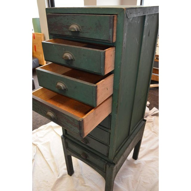 Green Painted Eight-Drawer Cabinet - Image 8 of 10