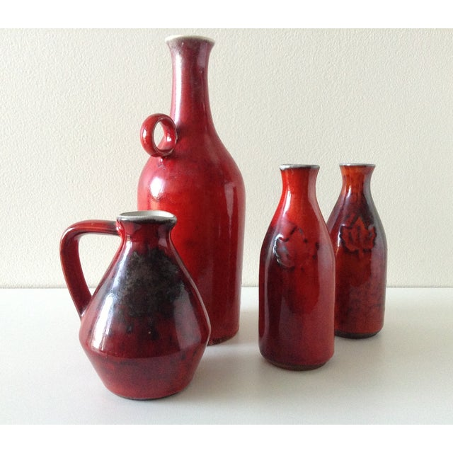 Terracotta Red Glazed Containers - Set of 4 - Image 2 of 10