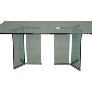 Pace Collection Glass and Chrome Dining Table
