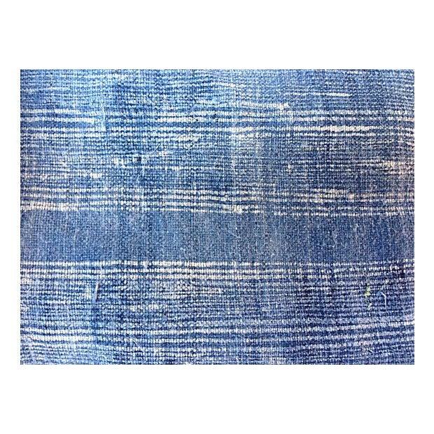 Image of Faded Indigo Batik Textile Fabric - 3.6 Yards