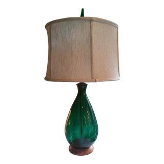 Blenko Emerald Green Glass Lamp