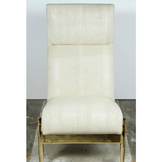 Paul Marra Slipper Chair in Brass with Faux Python - Image 6 of 10