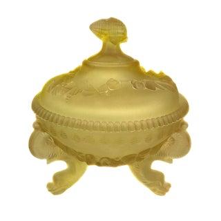Yellow Satin Glass Bowl