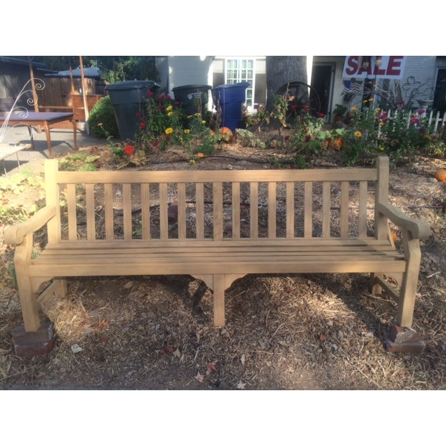 8' Teak Bench - Image 2 of 4