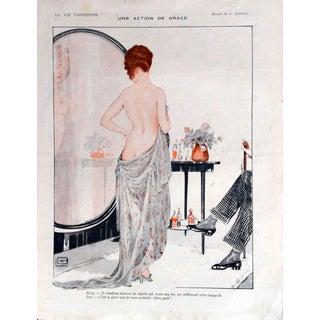 """G. Leonnec 1917 La Vie Parisienne """"Un Action De Grace"""" Print"""