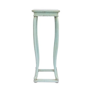 Chinese Light Pastel Blue Square Plant Stand Table