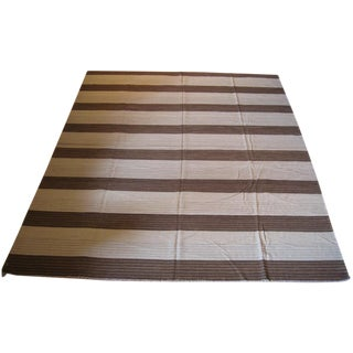 Striped Kilim Rug - 12′ × 14′8″