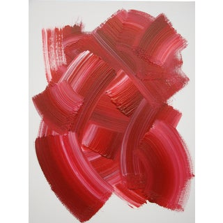 Abstract Red Acrylic Painting