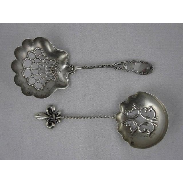 Image of Victorian Sterling Silver Pierced Bon-Bon Servers - Set of 4