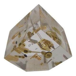 Dunhill Lighter Parts Lucite Sculpture Paperweight