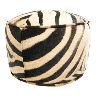 Forsyth One of a Kind Zebra Hide Pouf Ottoman