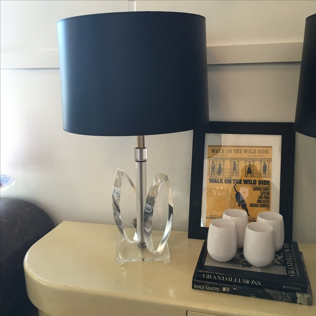 Vintage Mid-Century Sculptural Acrylic Table Lamp Attributed to Van Teal - Image 8 of 8