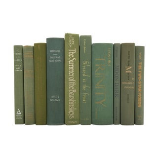 Green Decorative Books - Set of 10