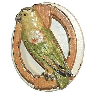 1920s Painted Parrot Door Knocker