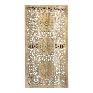 Carved Wood Medallion Panel