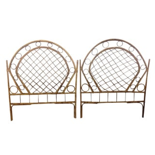 Bamboo Twin Headboards - A Pair