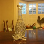 Image of Pear Shaped Heavy Cut Crystal Decanter