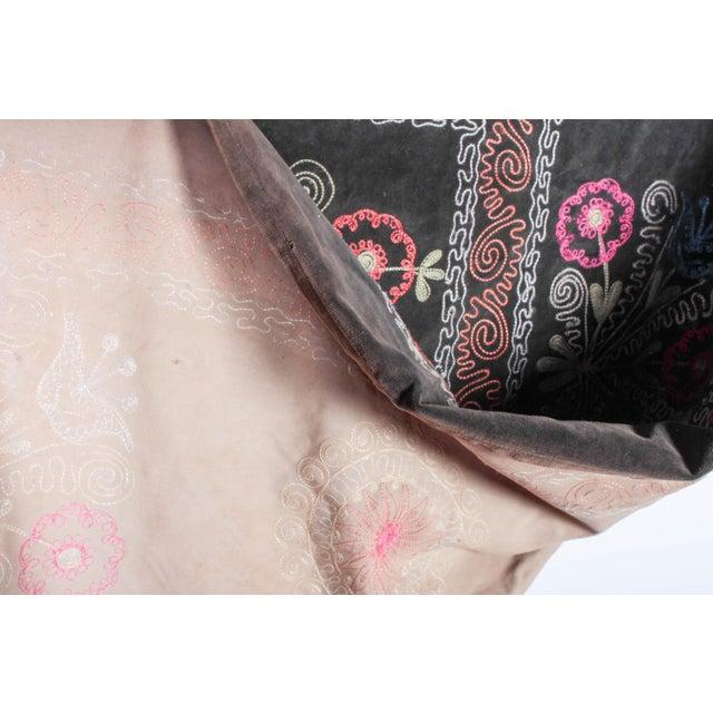 Embroidered Vintage Velvet Suzani - Image 5 of 7