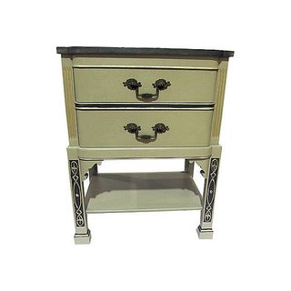 1940s Gray & White Nightstand