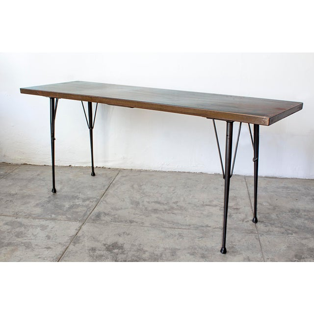Mid-Century Patina Console Table, Rehab Original - Image 3 of 6