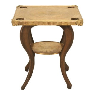 French Game Table with Brass Top