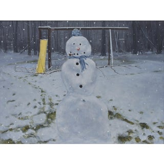 """Stephen Remick, Painting of a Snowman 30"""" X 40"""""""